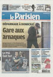 Article du Parisien Dimanche : Dépannage à domicile - Gare aux arnaques (Page 1) | Cliquez pour agrandir