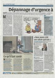 Article du Parisien Dimanche : Dépannage à domicile - Gare aux arnaques (Page 2) | Cliquez pour agrandir