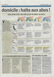 Article du Parisien Dimanche : Dépannage à domicile - Gare aux arnaques (Page 3) | Cliquez pour agrandir