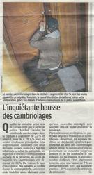 Article du Parisien - L'inquiétante hausse du cambriolage